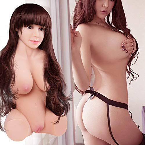 3D Realistic Lifesize Beautiful Woman Torso Lovely Dolls Adult Toy for Men Male with Head & Wig & 3 Openings, Privacy Packed from USA by BFFY (Image #8)