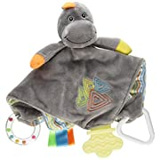 Stephan Baby Chewbie Activity Toy and Teething Blankie, Dinosaur