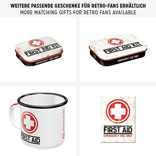 Nostalgic-Art Boîte en Fer Blanc Plate Style rétro pour kit de Premiers Secours Imprimé First Aid 23 x 16 x 7 cm 5