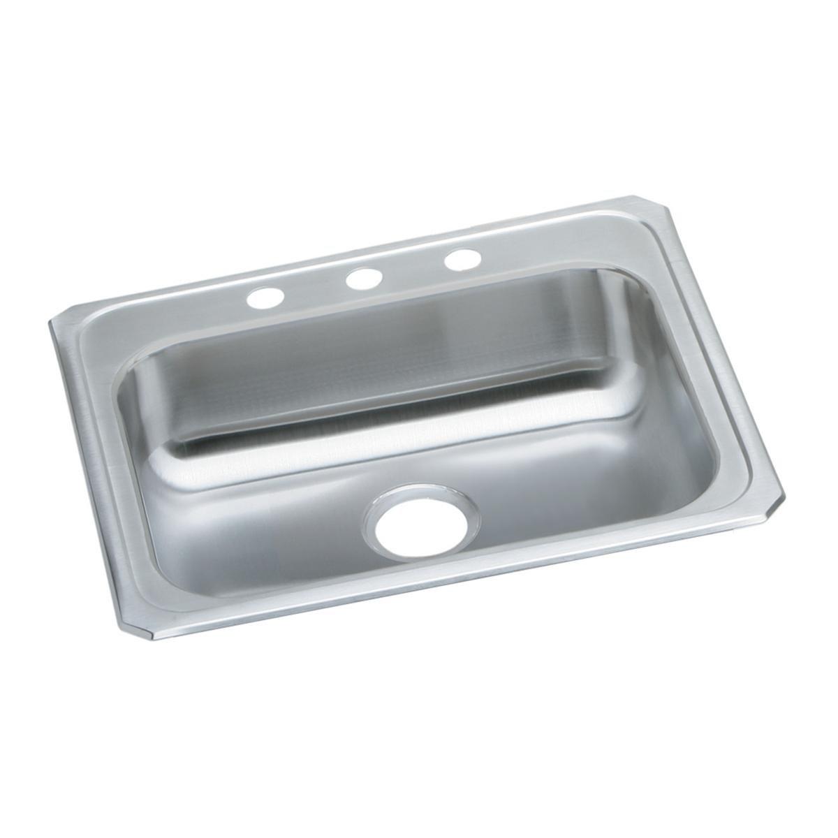 Elkay Celebrity GECR2521R3 Single Bowl Top Mount Stainless Steel Sink