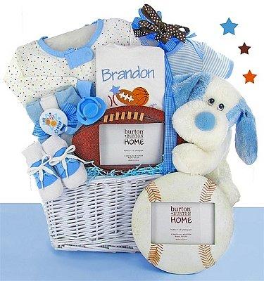 Classic All Star Baby Gift Basket - Boy