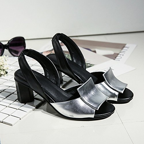 señoras Bajos Toe Verano Zapatos Chanclas LI Alto Sandalias Zapatos BAJIAN Peep heelsWomen Sandalias 8BZUSzTq6w