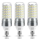 corn bulb 100w - LOHAS 100W Equivalent LED Candelabra Light Bulbs,12W LED Corn Bulb, E12 Screw Base, Daylight White(5000K), CFL Lights Incandescent Bulbs Replacement, 1100 Lumen, Non Dimmable(3 Pack)