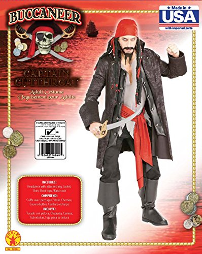 Rubies Costume Pirates of the Seven Seas Captain Cutthroat - Adult Standard