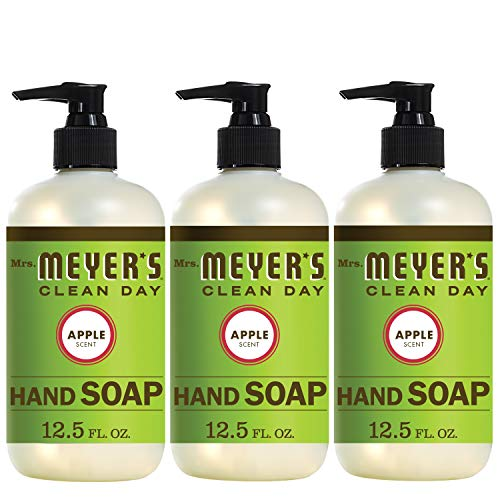 Basil Hand Soap (Mrs. Meyer´s Clean Day Hand Soap, Apple, 12.5 fl oz, 3 ct)