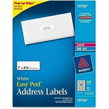 Amazon 18160 Avery Address Labels 1 Width X 262 Length