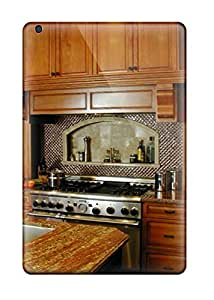 Shock-dirt Proof Dark Wood Cabinets And Granite Countertops In A Traditional Kitchen Case Cover For Ipad Mini/mini 2
