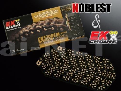 EK&ノーブレスト 530RCMチェーン 530-120L ブラック&ゴールド チェーン SANCTUARY サンクチュアリ RCM120L   B0144KGPKA