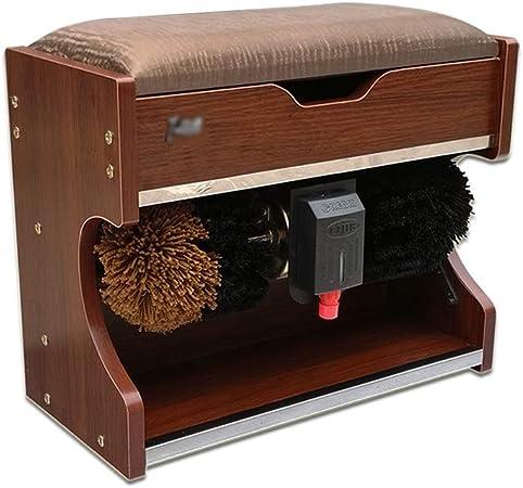 QFFL Máquina limpiabotas automático Lustrador de Calzado, Lustrador automático de Calzado, Lustrador de Calzado eléctrico con Caja de Almacenamiento (50x23x42cm) Cepillo de Limpieza: Amazon.es: Hogar