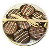 Milk Chocolate Dipped Oreo Cookies decorated with white chocolate 7 Oreo Assortment by Olde Naples Chocolate