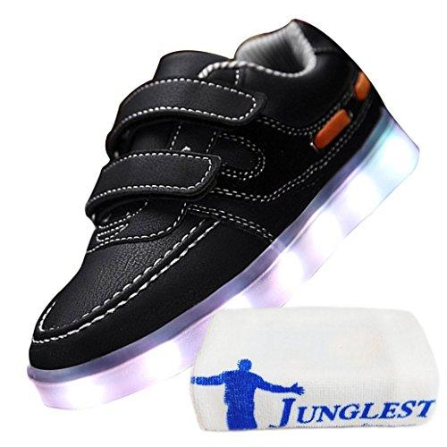 (Présents:petite serviette)JUNGLEST® - 7 Couleur Mode Unisexe Homme Femme USB Charge LED Chaussures Lumière Lumineux Clignotants Chaussures de marche Haut-Dessus LED Ch c43
