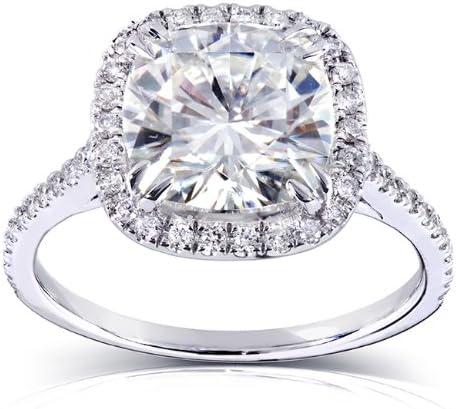 Kobelli Cushion-cut Moissanite Engagement Ring 3 CTW 14k White Gold (8.5mm)