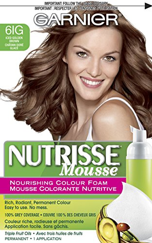 Garnier  Nutrisse Nourishing Color Foam, Iced Golden Brown (Garnier Color Hair Foam)