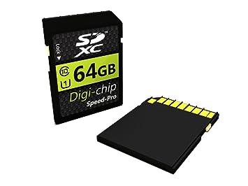 Digi-chip 64 GB 64 GB Clase 10 SD tarjeta de memoria SDXC ...