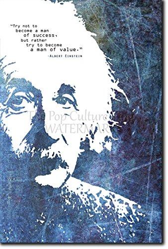 Albert Einstein Quote 4 Man Of Success Photo Poster Print