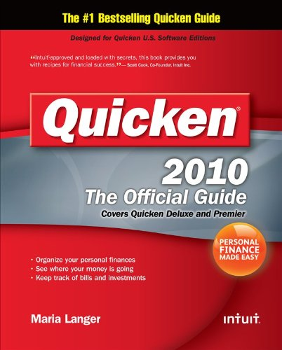 Quicken 2010 The Official Guide  Quicken Press