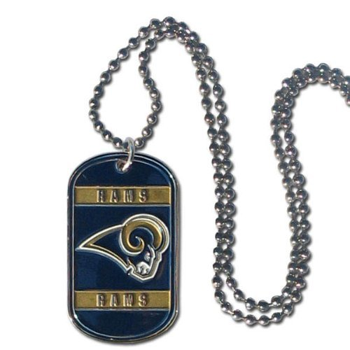 Personalized Engraved NFL St. Louis Rams Dog Tag Necklace Pendant. ()