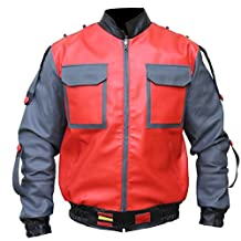 Back to the Future Part 2 Marty Mcfly Sheep Leather Jacket For Men,XXS-3XL