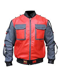 Back to the Future Part 2 Marty Mcfly Synthetic Leather Jacket For Men, XXS-3XL