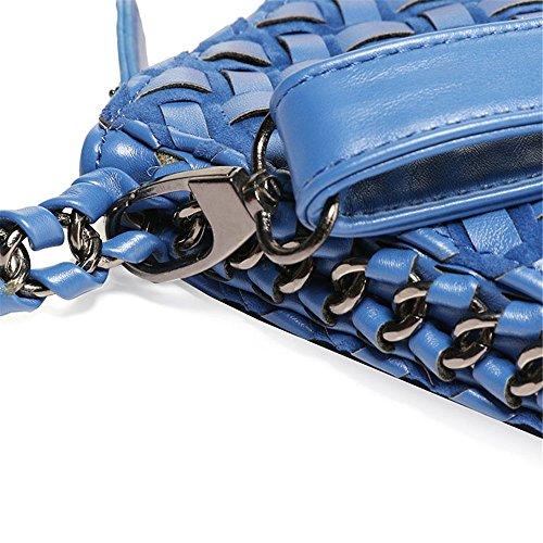 Femmes Tout glissière Bleu Main à Fermeture glissière à Sac Xuanbao à Femmes Paquet des Sac fourre Couleur Femmes Stockage Femmes Polyvalent épaule Solide Simple bandoulière Fermeture Diagonale HA44qtw