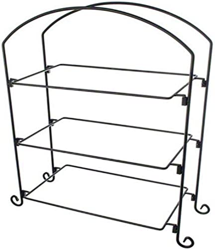 American Metalcraft Three Tier Ironwork Stand For Rectangular Plates And Basket