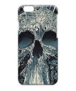 Iphone 6 Case, Abstract Skull Artwork Illustration PC Plastic Hard Case for Apple iPhone 6 4.7 Inch
