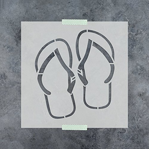 Flip Flop Border - Flip Flops Stencil Template - Reusable Stencil with Multiple Sizes Available