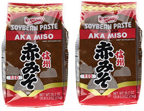 Shirakiku Miso Aka (red) Soy Bean Paste, 35.2-Ounce Bags (Pack of 2)