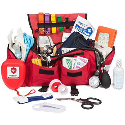 Eco Medix First Aid Kit Emergency Response Trauma Bag (Red)