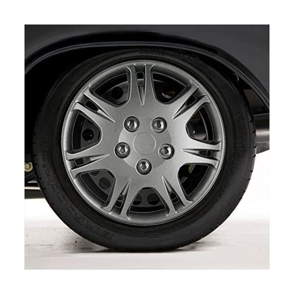 Upgrade-Your-Auto-Set-of-Four-15-Silver-Hubcap-Wheel-Covers-for-99-03-Mitsubishi-Galant-Push-on