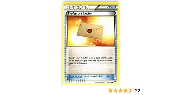 4x PROFESSOR/'S LETTER 146//162 Trainer XY BREAKthrough Pokemon Cards Near Mint