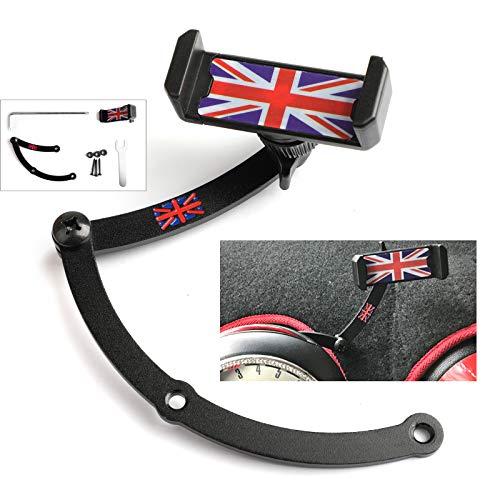 Artudatech Union Jack Car Phone Mount Folding Holder For Mini Cooper R55 R56 Red&Blue