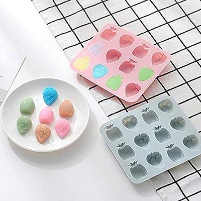 YZBear 2 unidades de moldes de silicona para cubitos de hielo con ...