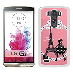 Fashionable And Unique Kate Spade Cover Case For LG G3 White Phone Case 305