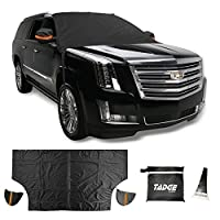 XL Magnetic Ice Shield Snow Cover For Windshield – Smart Frost Guard Winter Protector Fits Car, Truck, SUV, Van - Free Bonus Ice Scraper & Travel Pouch