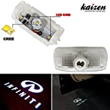 Kaizen 2 Pcs OEM Fit Super Bright LED Laser Ghost Shadow CREE Door Step Courtesy Welcome Light Lamps For Infiniti EX M G25 G37 FX Q QX CAN-bus No Error