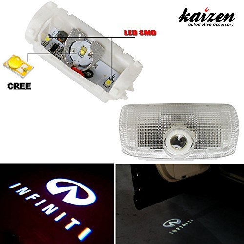 Kaizen 2 Pcs Oem Fit Super Bright Led Laser Ghost Shadow Cree Door Step Courtesy Welcome Light Lamps For Infiniti Ex M G25 G37 Fx Q Qx Can Bus No Error