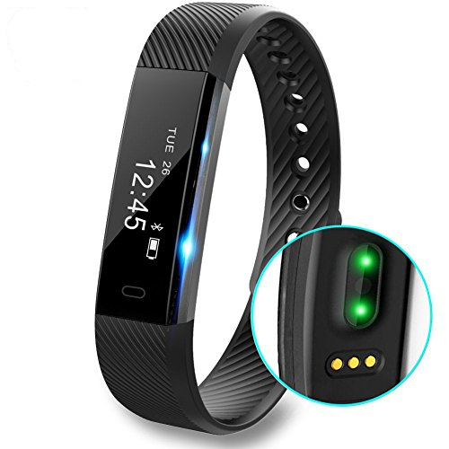 Fitness Tracker Watch, Waterproof Sport Wristband Pedometer Bluetooth Smart Bracelet Wireless Touch Screen Sleep Monitor Activity Tracker with Step Distance Calorie Counter for Android / iOS