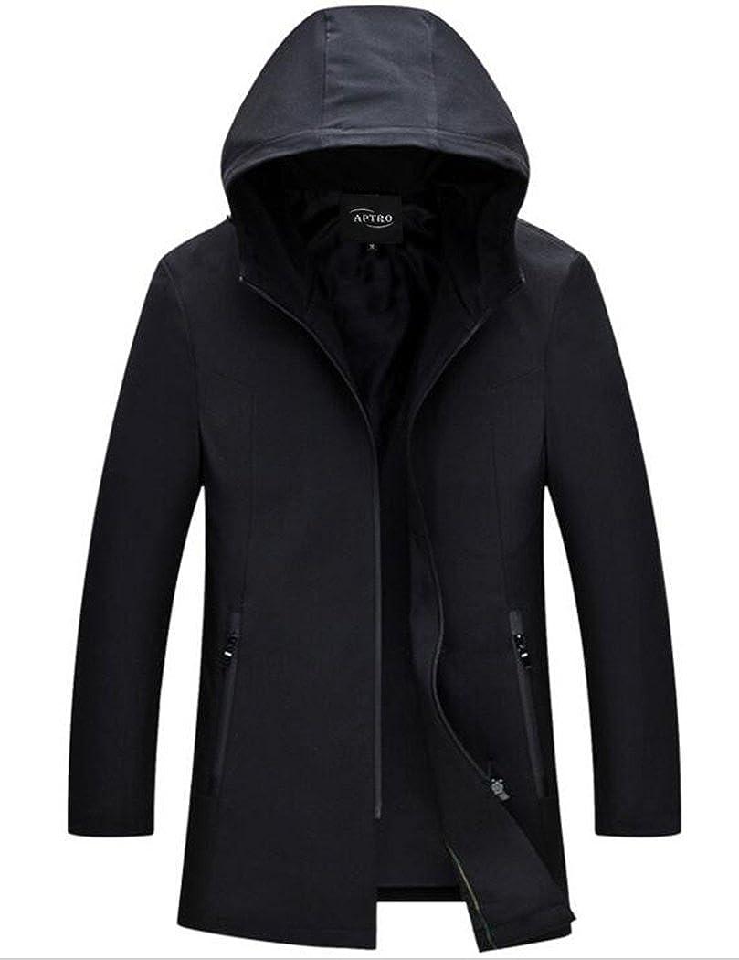 APTRO Men's Hooded Lightweight Jacket Softshell Full Zipper Windproof Jacket