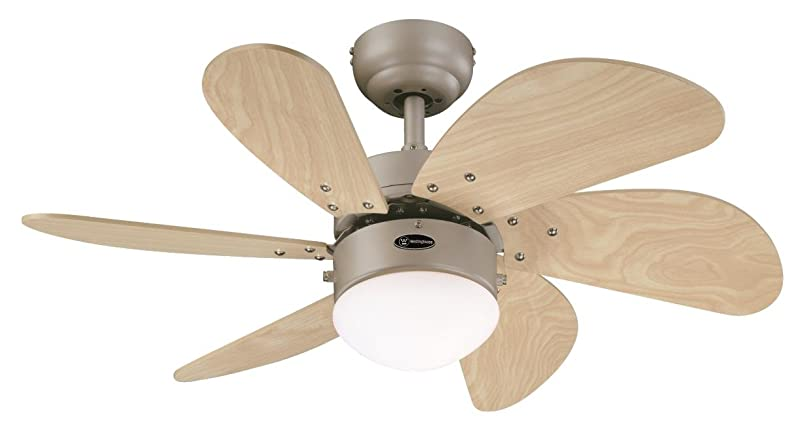 Ventilatore da soffitto silenzioso con luce da design pale a
