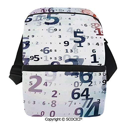 SCOCICI Collapsible Cooler Bag Code Numbers Computer Database Science Information Technology Themed Art Insulated Soft Lunch Leakproof Cooler Bag for Camping,Picnic,BBQ -