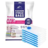 Vacuum Space Saver Storage Bags,Jumbo 6-Pack of 30x40 inch, Space Saver Bags for Packing Clothes, Duvets, Pillows, Bedding and Easy Travel by Mountain Forged