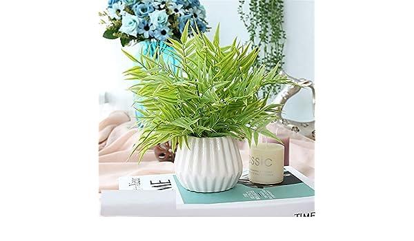 Licxcx Flores Artificiales Decorativos pequeños Muebles de Dormitorio en macetas de plástico Ramo seco decoración arreglo de Flores Artificiales Flores ...