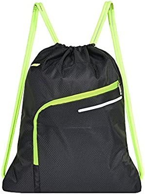 1d3d96fa194a Saigain Gym Sack Large Drawstring Backpack Sport Bag Sackpack with ...