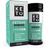 Perfekt Keto Ketone Testing Strips: Test Ketosis Levels on Low Carb Ketogenic Diet, 100 Urinalysis Tester Strips Best for Accurate Meter Measurement of Urine Ketones Tests