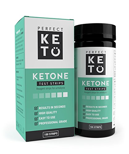 Perfect Keto Ketone Testing Strips: Test Ketosis Levels on Low Carb Ketogenic Diet, 100 Urinalysis Tester Strips Best for Accurate Meter Measurement of Urine Ketones Tests
