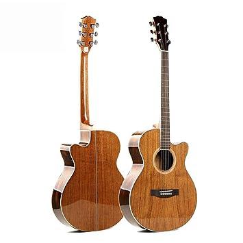 Hjyi Guitarra acústica, Guitarra acústica de Palo de Rosa de Pino Rojo, luz en la Clase, Guitarra de Caja eléctrica (40 Pulgadas): Amazon.es: Jardín