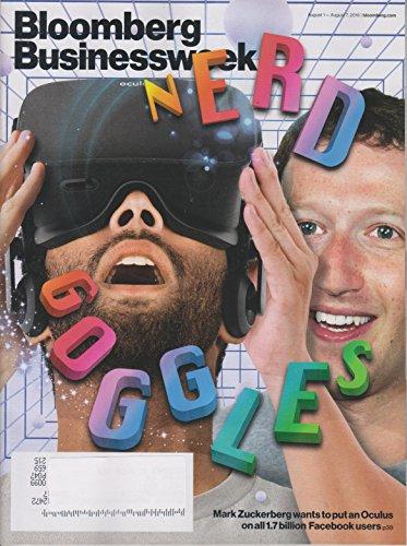 Bloomberg Businessweek August 1-7, 2016 Nerd - Goggles Nerd
