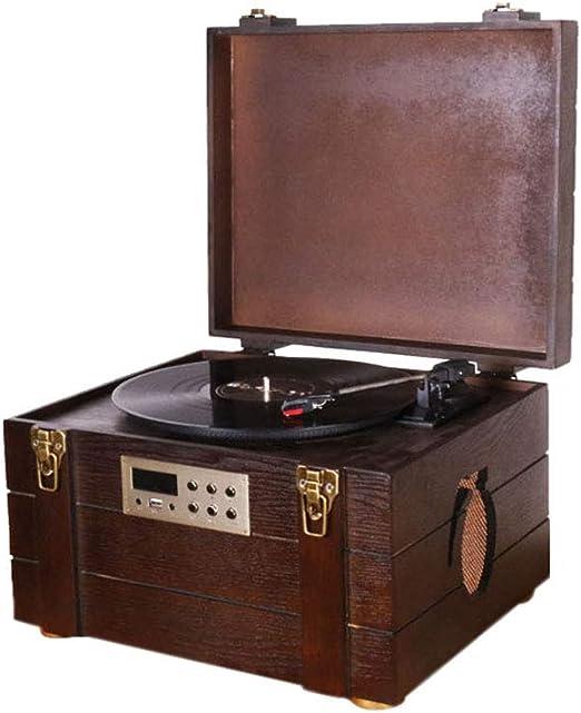 GOM Tocadiscos, Gramófono Retro con Altavoces Estéreos Discos de ...