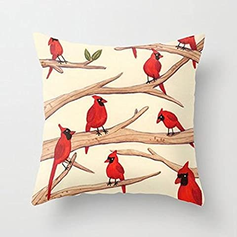My Honey Pillow Cardinals Throw Pillow By Sophie Corriganfor Your Home - Italian Jerky